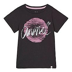 Animal - Girls' dark grey logo print t-shirt