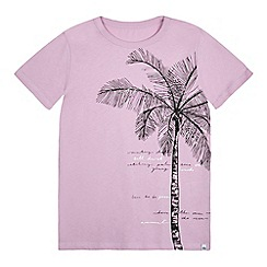 Animal - Girls' pink palm tree print t-shirt