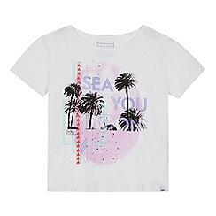 Animal - Girls' white 'Sea You Soon' palm tree print t-shirt
