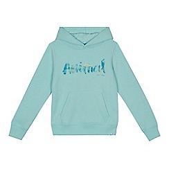 Animal - Girls' pale green logo print hoodie