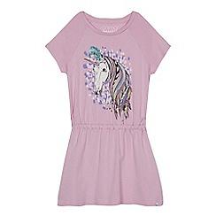 Animal - Girls' lilac unicorn print dress