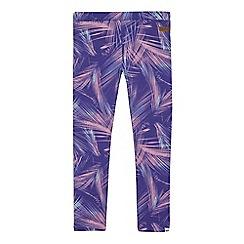 Animal - Girls' purple printed leggings