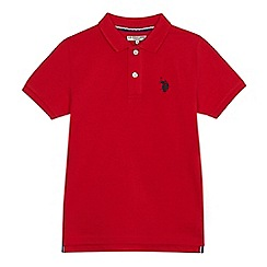 U.S. Polo Assn. - Boys' red pique polo shirt