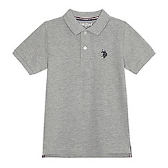 U.S. Polo Assn. - Boys' grey polo shirt