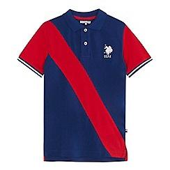 U.S. Polo Assn. - 'Boys' navy striped polo shirt