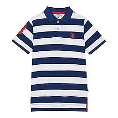 U.S. Polo Assn. - Boys' navy striped polo shirt