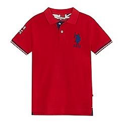 U.S. Polo Assn. - Boys' red polo shirt