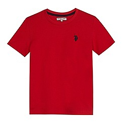 U.S. Polo Assn. - Boys' red embroidered logo t-shirt