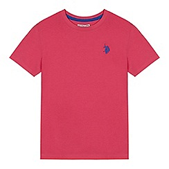 U.S. Polo Assn. - Boys' pink embroidered logo t-shirt