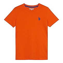 U.S. Polo Assn. - Boys' orange embroidered logo t-shirt