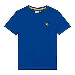 U.S. Polo Assn. - Boys' blue embroidered logo t-shirt