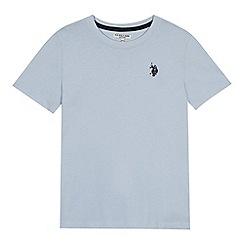U.S. Polo Assn. - Boys' pale blue embroidered logo t-shirt