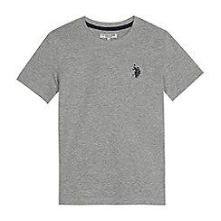 U.S. Polo Assn. - Boys' grey embroidered logo t-shirt