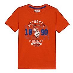 U.S. Polo Assn. - Boys' orange logo print t-shirt