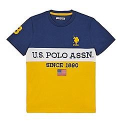 U.S. Polo Assn. - Boys' multi-coloured embroidered logo t-shirt