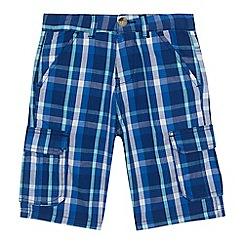 U.S. Polo Assn. - 'Boys' navy checked cargo shorts