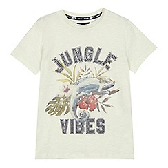 Mantaray - Boys' off-white 'Jungle Vibes' print t-shirt