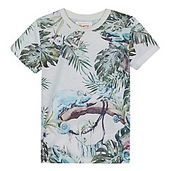 Mantaray - Boys' green gecko print t-shirt