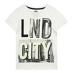 bluezoo - Boys' white 'LND CITY' print t-shirt