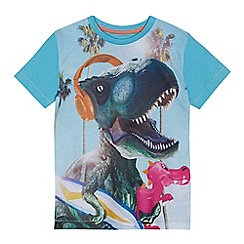 bluezoo - Boys' multi-coloured dinosaur print t-shirt