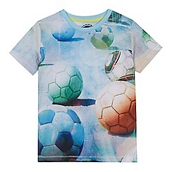 bluezoo - 'Boys' multi-coloured football print t-shirt