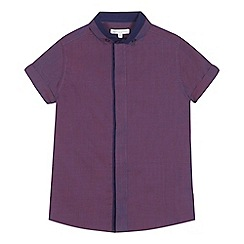 bluezoo - 'Boys' purple tonic button down collar short sleeve shirt