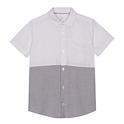 bluezoo - 'Boys' white colour block short sleeve shirt