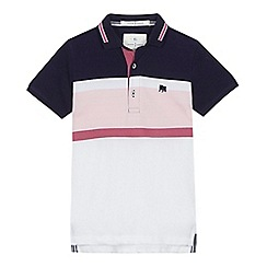 J by Jasper Conran - 'Boys' multi-coloured block striped polo shirt