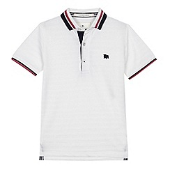 J by Jasper Conran - 'Boys' white textured polo shirt
