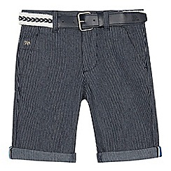 J by Jasper Conran - Navy striped belted shorts