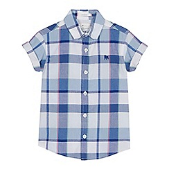 J by Jasper Conran - Boys' blue and white checked short sleeve shirt