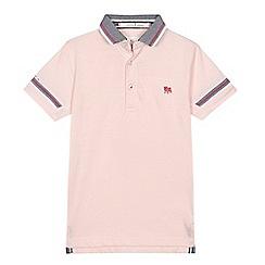 J by Jasper Conran - 'Boys' pink contrast texture polo shirt