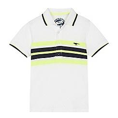 bluezoo - 'Boys' white striped polo shirt