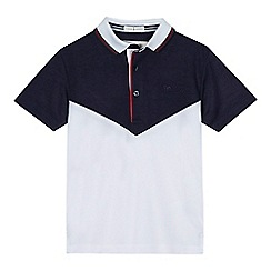 J by Jasper Conran - Boys' white colour block polo shirt
