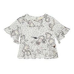Angel and Rocket - 'Girls' diamond print short sleeve top