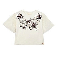Angel and Rocket - 'Girls' white diamond print short sleeve top