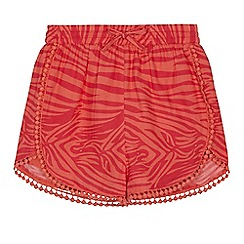 Angel and Rocket - 'Girls' pink zebra print shorts