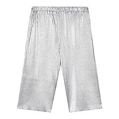 Angel and Rocket - Girls' silver metallic plisse culottes