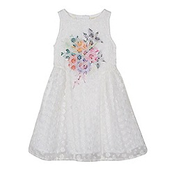 Angel and Rocket - 'Girls' white floral embroidered dress
