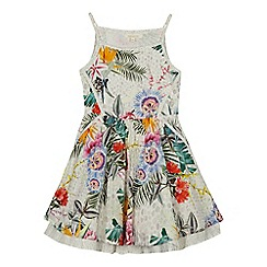 Angel and Rocket - 'Girls' multi-coloured floral print dress