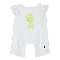 Angel and Rocket - 'Girls' grey sequinned pineapple jersey top