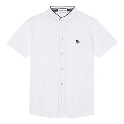 J by Jasper Conran - 'Boys' white pique grandad collar shirt