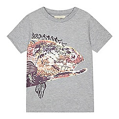 Angel and Rocket - Boys' grey fish print t-shirt