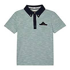 Angel and Rocket - Boys' green textured polo shirt