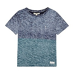 Angel and Rocket - Boys' blue and green colour block t-shirt