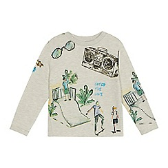 Angel and Rocket - 'Boys' grey beach print sweater