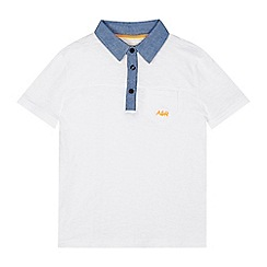 Angel and Rocket - Boys' white polo shirt
