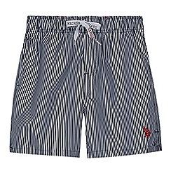 U.S. Polo Assn. - Boys' navy striped swim shorts