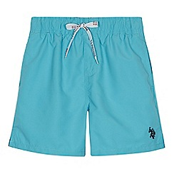U.S. Polo Assn. - Boys' light blue swim shorts