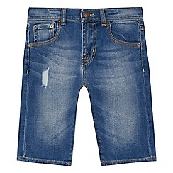 Levi's - Boys' blue denim 510 'Bermuda' skinny shorts
